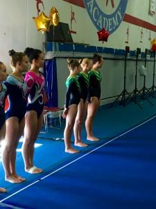 L4_5 team intro vault runway Truckee Gymnastics Miyagi Meet (9-26-15)
