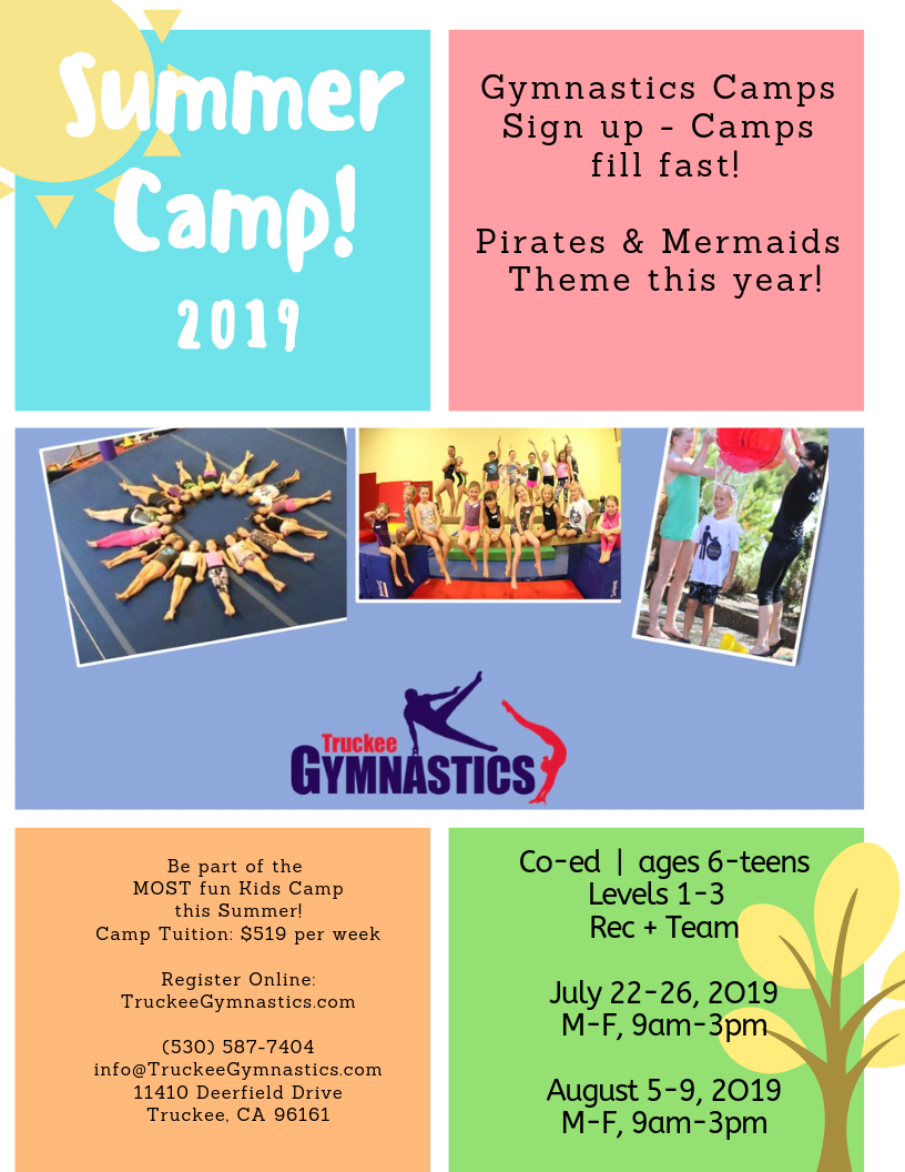 SUMMER CAMPS 2019 | NOW OPEN for Registration