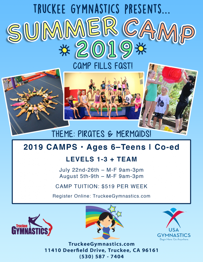Gymnastics Summer Camps 2020.Summer Camps 2019 Registration Now Open Truckee Gymnastics